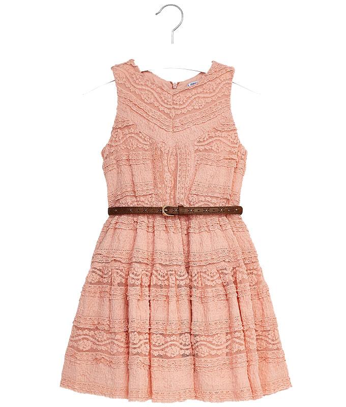 Φόρεμα δαντέλα με ζώνη – Παιδικά Πετρούλα 7aa809e5644