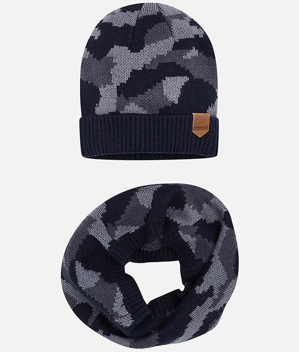 eb0a3f291bf Σετ καπέλο και κασκόλ παραλλαγή – Παιδικά Πετρούλα